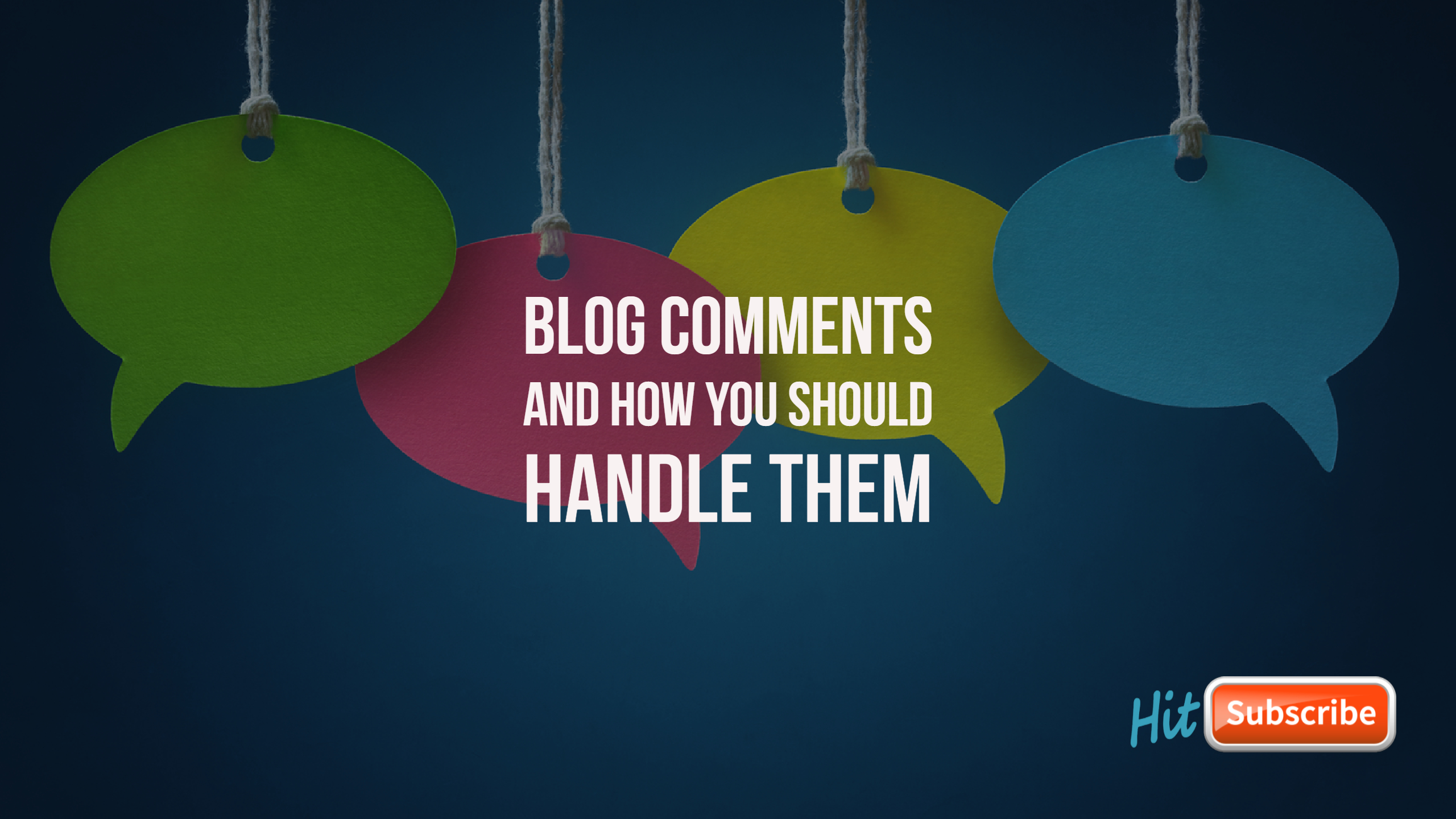 Image with post title and chat bubbles representing blog comments