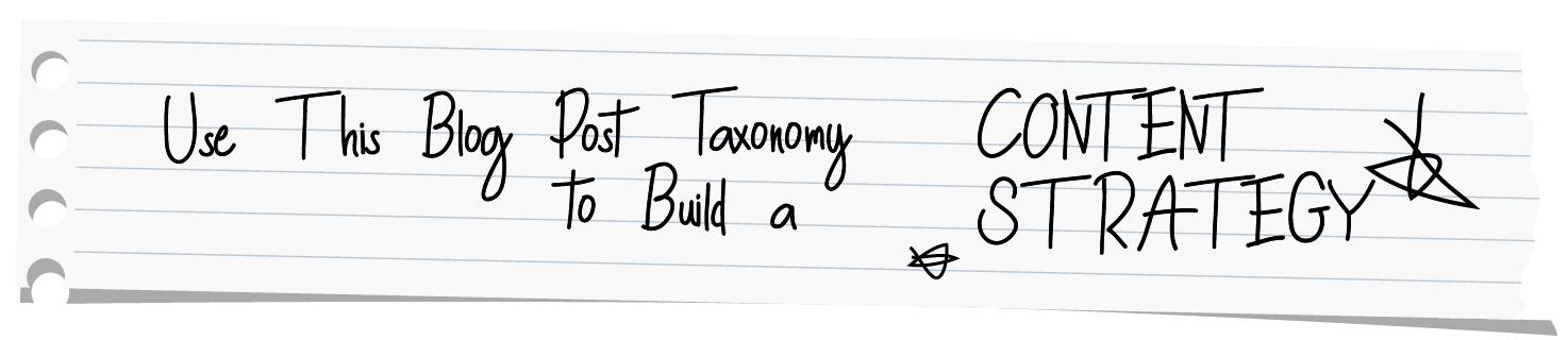 Use This Blog Post Taxonomy to Build a Content Strategy Header