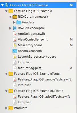 Select feature flag project