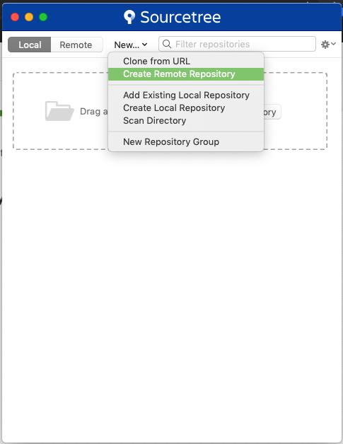 Create a new remote repository