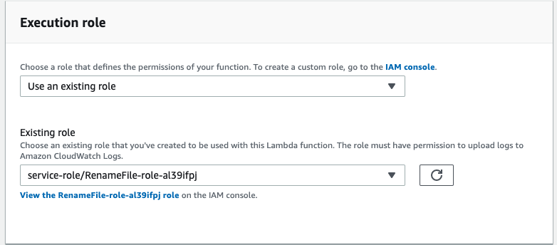 change role in lambda