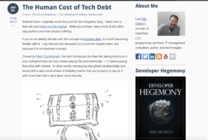 The human cost of tech debt