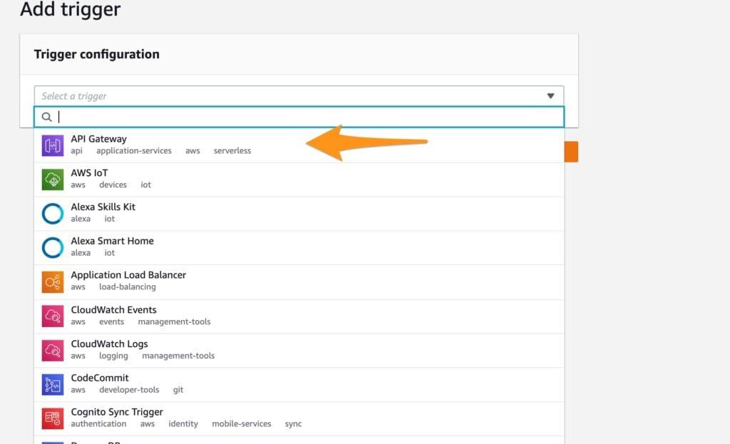 Select API gateway